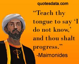 Maimonides_quote